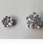 China wholesale custom beautiful crystal rhinestone button