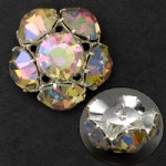 High quality rhinestone button for clothing