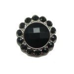 Fancy crystal rhinestone button for coat