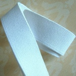 Good quality white color knitted elastic band