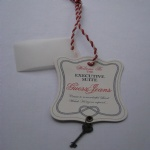 China factory hanging tag for clothing