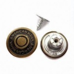 China factory produced brass metal jean button