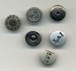 China produced metal jeans button